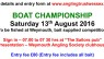 ANGLING TRUST WESSEX BOAT CHAMPIONSHIP 2016